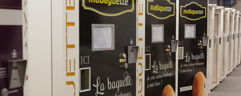 Distributeurs de baguettes fraîches
